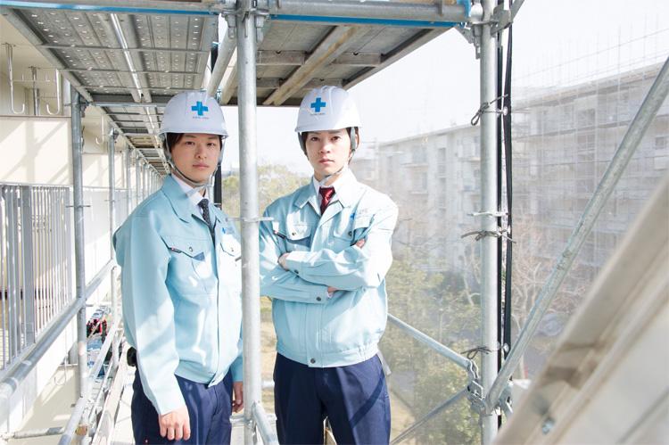 テイエム技建では分譲マンションを中心にオフィスビルなどの大規模修繕工事を行っています。