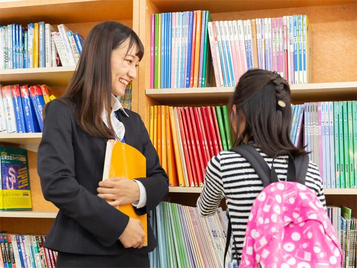 京進ではほめる指導で生徒を導きます。